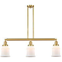 Satin Gold Glass Canton Island Lights