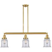 Innovations Lighting 213-SG-G182-LED Canton LED 39 inch Satin Gold Island Light Ceiling Light, Franklin Restoration