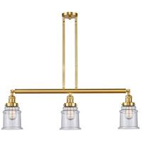 Innovations Lighting 213-SG-G184-LED Canton LED 39 inch Satin Gold Island Light Ceiling Light, Franklin Restoration