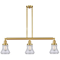 Innovations Lighting 213-SG-G194-LED Bellmont LED 39 inch Satin Gold Island Light Ceiling Light, Franklin Restoration