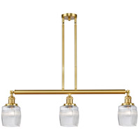 Satin Gold Glass Colton Island Lights