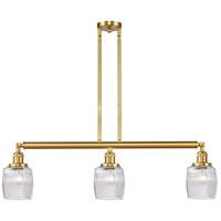 Innovations Lighting 213-SG-G302-LED Colton LED 38 inch Satin Gold Island Light Ceiling Light, Franklin Restoration