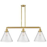 Innovations Lighting 213-SG-G44-L X-Large Cone 3 Light 44 inch Satin Gold Island Light Ceiling Light Franklin Restoration