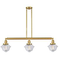 Innovations Lighting 213-SG-G532 Small Oxford 3 Light 40 inch Satin Gold Island Light Ceiling Light Franklin Restoration