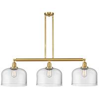 Innovations Lighting 213-SG-G72-L-LED X-Large Bell LED 42 inch Satin Gold Island Light Ceiling Light