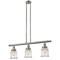 Innovations Lighting 213-SN-G184 Canton 3 Light 36 inch Brushed Satin Nickel Island Light Ceiling Light