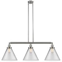 Innovations Lighting 213-SN-G42-L-LED X-Large Cone LED 44 inch Satin Nickel Island Light Ceiling Light Franklin Restoration