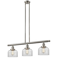 Signature 3 Light 36 inch Brushed Satin Nickel Island Light Ceiling Light, Large, Bell