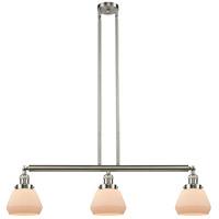 Innovations Lighting 213-SN-S-G171-LED Fulton LED 39 inch Brushed Satin Nickel Island Light Ceiling Light Adjustable