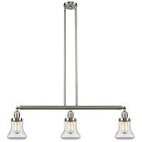 Innovations Lighting 213-SN-S-G192-LED Bellmont LED 39 inch Brushed Satin Nickel Island Light Ceiling Light Franklin Restoration