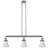 Innovations Lighting 213-SN-S-G194 Bellmont 3 Light 39 inch Brushed Satin Nickel Island Light Ceiling Light Adjustable