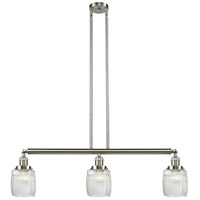 Innovations Lighting 213-SN-S-G302-LED Colton LED 38 inch Brushed Satin Nickel Island Light Ceiling Light Adjustable