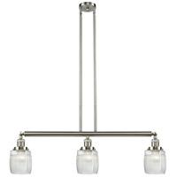 Innovations Lighting 213-SN-S-G302 Colton 3 Light 38 inch Brushed Satin Nickel Island Light Ceiling Light Adjustable