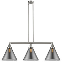 Innovations Lighting 213-SN-S-G43-L X-Large Cone 3 Light 44 inch Brushed Satin Nickel Island Light Ceiling Light, Franklin Restoration photo thumbnail