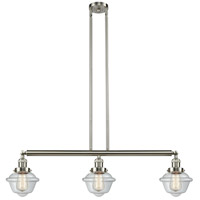 Innovations Lighting 213-SN-S-G532-LED Small Oxford LED 40 inch Brushed Satin Nickel Island Light Ceiling Light Franklin Restoration
