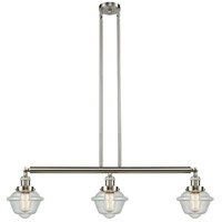 Innovations Lighting 213-SN-S-G534-LED Small Oxford LED 40 inch Brushed Satin Nickel Island Light Ceiling Light Franklin Restoration