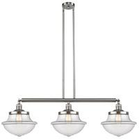 Innovations Lighting 213-SN-S-G542-LED Large Oxford LED 42 inch Brushed Satin Nickel Island Light Ceiling Light Franklin Restoration