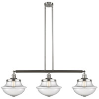 Innovations Lighting 213-SN-S-G544 Large Oxford 3 Light 42 inch Satin Nickel Island Light Ceiling Light Franklin Restoration