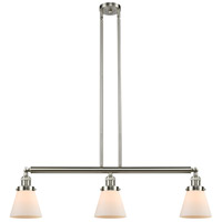 Innovations Lighting 213-SN-S-G61 Small Cone 3 Light 39 inch Brushed Satin Nickel Island Light Ceiling Light Franklin Restoration