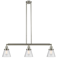 Innovations Lighting 213-SN-S-G64-LED Small Cone LED 39 inch Brushed Satin Nickel Island Light Ceiling Light Franklin Restoration