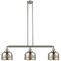 Innovations Lighting 213-SN-S-G78 Large Bell 3 Light 41 inch Brushed Satin Nickel Island Light Ceiling Light Franklin Restoration