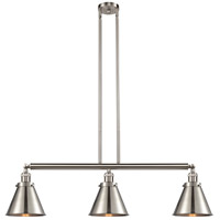 Innovations Lighting 213-SN-S-M13-SN Appalachian 3 Light 40 inch Brushed Satin Nickel Island Light Ceiling Light Franklin Restoration