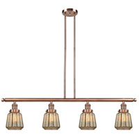 Chatham 4 Light 48 inch Antique Copper Island Light Ceiling Light