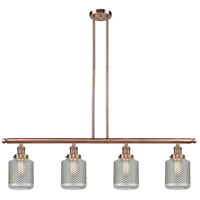Innovations Lighting 214-AC-G262-LED Stanton LED 51 inch Antique Copper Island Light Ceiling Light Franklin Restoration