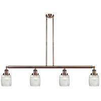 Innovations Lighting 214-AC-G302-LED Colton LED 50 inch Antique Copper Island Light Ceiling Light Franklin Restoration