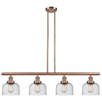 Innovations Lighting 214-AC-S-G74-LED Large Bell LED 53 inch Antique Copper Island Light Ceiling Light, Adjustable
