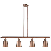Innovations Lighting 214-AC-S-M9-AC-LED Addison LED 50 inch Antique Copper Island Light Ceiling Light Adjustable
