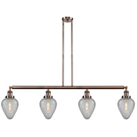 Innovations Lighting 214-AC-S-G165-LED Geneseo LED 52 inch Antique Copper Island Light Ceiling Light Franklin Restoration
