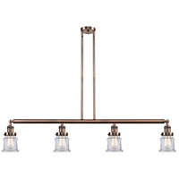 Innovations Lighting 214-AC-S-G182S-LED Small Canton LED 51 inch Antique Copper Island Light Ceiling Light Franklin Restoration