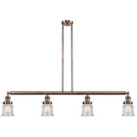 Innovations Lighting 214-AC-S-G184S Small Canton 4 Light 51 inch Antique Copper Island Light Ceiling Light Franklin Restoration