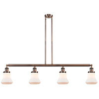 Innovations Lighting 214-AC-S-G191 Bellmont 4 Light 51 inch Antique Copper Island Light Ceiling Light Franklin Restoration
