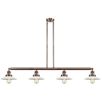 Innovations Lighting 214-AC-S-G1-LED Halophane LED 53 inch Antique Copper Island Light Ceiling Light Franklin Restoration