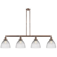 Innovations Lighting 214-AC-S-G222-LED Seneca Falls LED 51 inch Antique Copper Island Light Ceiling Light Franklin Restoration