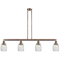 Innovations Lighting 214-AC-S-G302-LED Colton LED 50 inch Antique Copper Island Light Ceiling Light Adjustable