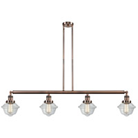 Innovations Lighting 214-AC-S-G532 Small Oxford 4 Light 52 inch Antique Copper Island Light Ceiling Light Adjustable