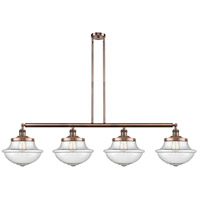 Innovations Lighting 214-AC-S-G544-LED Large Oxford LED 54 inch Antique Copper Island Light Ceiling Light Franklin Restoration