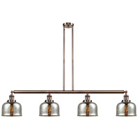 Innovations Lighting 214-AC-S-G78 Large Bell 4 Light 53 inch Antique Copper Island Light Ceiling Light Franklin Restoration