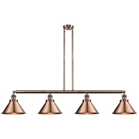 Innovations Lighting 214-AC-S-M10-AC Briarcliff 4 Light 55 inch Antique Copper Island Light Ceiling Light Franklin Restoration