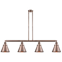 Innovations Lighting 214-AC-S-M13-AC Appalachian 4 Light 52 inch Antique Copper Island Light Ceiling Light Franklin Restoration