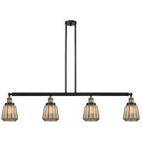 Innovations Lighting 214-BAB-G146 Chatham 4 Light 51 inch Black Antique Brass Island Light Ceiling Light Franklin Restoration