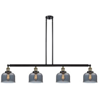 Innovations Lighting 214-BAB-G73-LED Large Bell LED 53 inch Black Antique Brass Island Light Ceiling Light Franklin Restoration