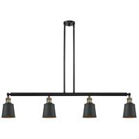 Innovations Lighting 214-BAB-M9-BK-LED Addison LED 50 inch Black Antique Brass Island Light Ceiling Light Franklin Restoration