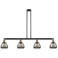 Innovations Lighting 214-BAB-S-G173-LED Fulton LED 51 inch Black Antique Brass Island Light Ceiling Light Franklin Restoration