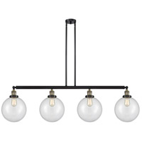Innovations Lighting 214-BAB-S-G202-10-LED X-Large Beacon LED 54 inch Black Antique Brass Island Light Ceiling Light Franklin Restoration