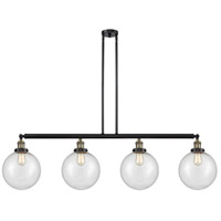 Innovations Lighting 214-BAB-S-G204-10-LED X-Large Beacon LED 54 inch Black Antique Brass Island Light Ceiling Light Franklin Restoration