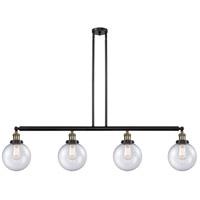 Innovations Lighting 214-BAB-S-G204-8-LED Large Beacon LED 53 inch Black Antique Brass Island Light Ceiling Light Franklin Restoration
